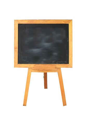 Photo for wooden black board on white background - Royalty Free Image
