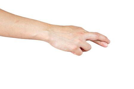 Photo pour human hand show finger cross and lie symbol white isolated background - image libre de droit