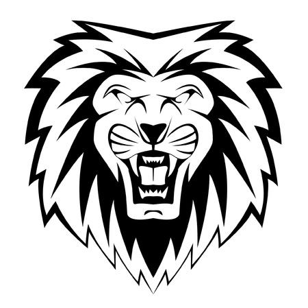 Illustration pour lion face - image libre de droit
