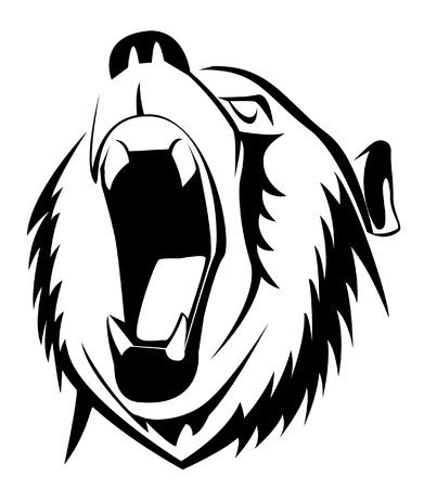 Illustration pour bear roar - image libre de droit