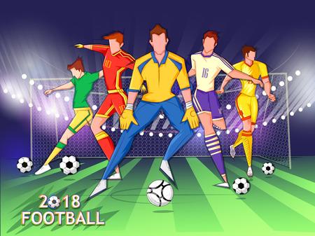 Foto de Football player playing Soccer Tournament - Imagen libre de derechos