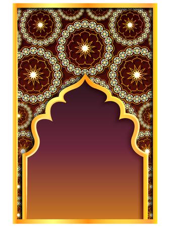Illustration pour vector illustration of Ramadan Kareem Greetings for Ramadan background with Islamic Mosque - image libre de droit