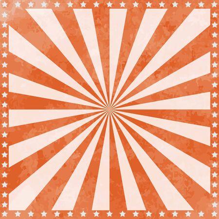 Illustration pour Vintage Circus Poster Background with sunburst and stars. - image libre de droit