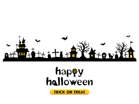 Illustration for Halloween vector background - Royalty Free Image