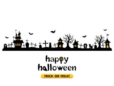 Ilustración de Halloween vector background - Imagen libre de derechos