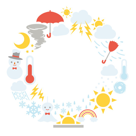 Illustration for Weather vector icon frame. - Royalty Free Image