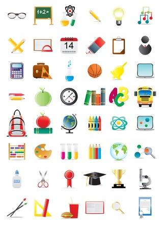 Set of education icons, illustration