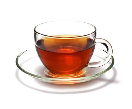 Photo pour Cup of black tea. Isolated on white background  - image libre de droit