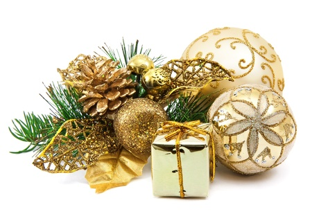 christmas decoration on the white background