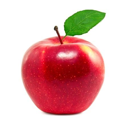 Photo pour Fresh red apple on a white background - image libre de droit