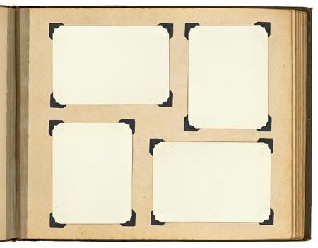 Photo pour Page of vintage photo album, with photo frames - image libre de droit