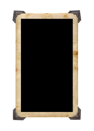 Photo for Old vintage photo with retro photo frames isolated on white background. - Royalty Free Image