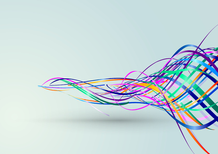 Abstract Lines Background, Vector Illustration