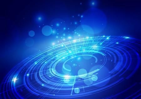 Photo pour Abstract Digital Technology Blue Background, Vector Illustration - image libre de droit
