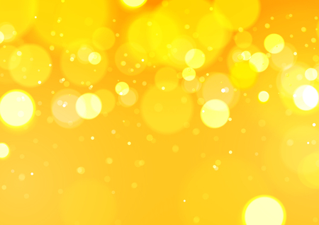 Illustration for Abstract Bokeh Light Yellow Background, Vector Illustration - Royalty Free Image