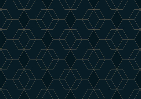 Illustration pour Abstract geometric pattern with lines on dark blue background, Vector illustration - image libre de droit