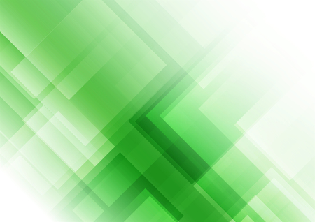 Illustration pour Abstract square shapes on green background, Vector illustration - image libre de droit