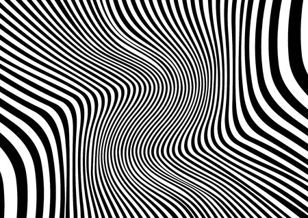 Illustration pour Abstract distorted black and white background, Vector illustration - image libre de droit