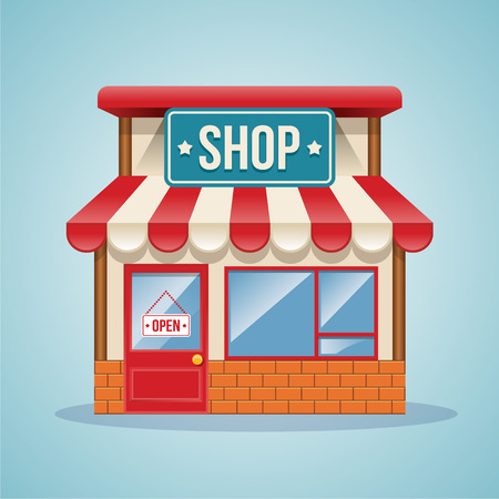 Illustration pour Shop vector illustration - image libre de droit
