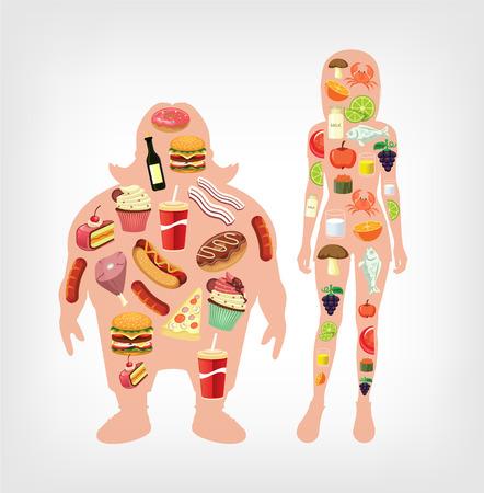 diet flat illustration