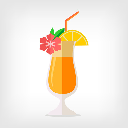 Foto per Vector cocktail flat illustration - Immagine Royalty Free