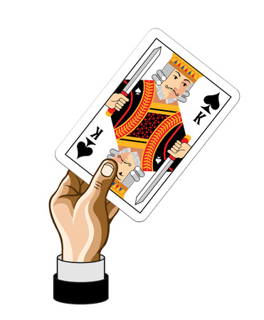 Vector King game card with hand