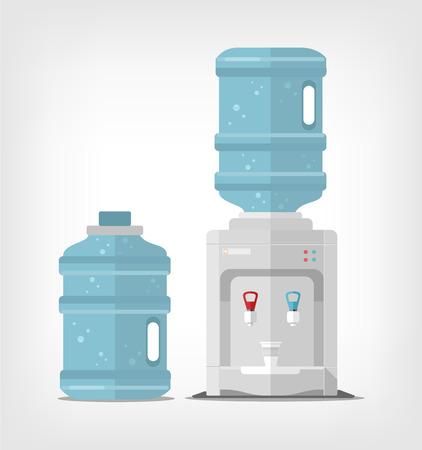 Water cooler. Vector flat illustration
