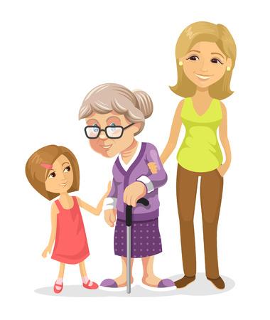 Illustration pour Vector family flat illustration - image libre de droit