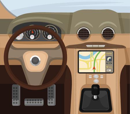 Illustration pour Car salon. Vector flat illustration - image libre de droit