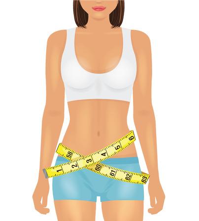 Girl sport body. Vector illustration