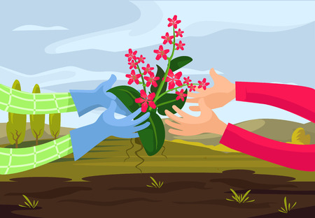Vector farming flat illustration