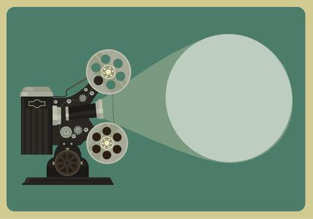 Illustration pour Retro movie projector. Vector flat illustration - image libre de droit