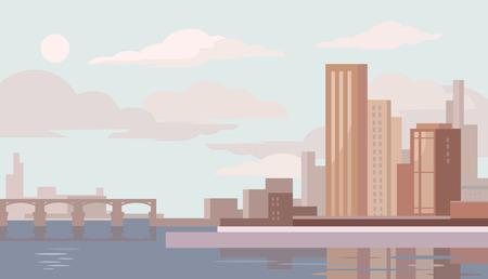Ilustración de Big city. Vector flat illustration - Imagen libre de derechos
