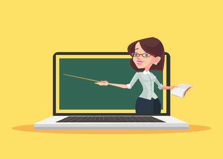 Illustration pour Online education. Vector flat illustration - image libre de droit