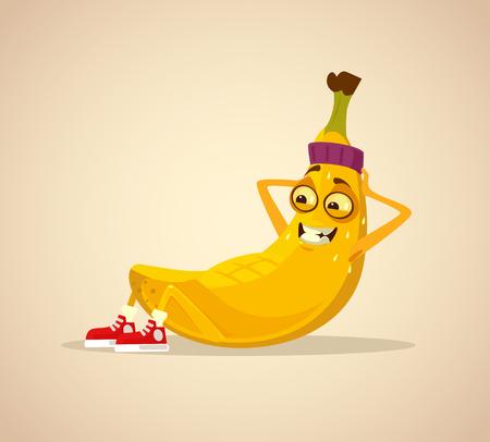Illustration pour Happy smiling sport. Vector cartoon illustration - image libre de droit