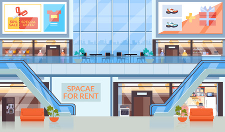 Super market shopping center mall concept. Vector flat graphic design illustration