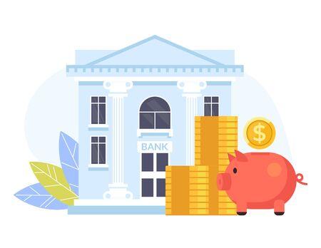 Ilustración de Banking business concept. Vector flat cartoon graphic design isolated illustration - Imagen libre de derechos