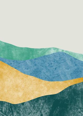 Illustration pour Abstract mountain landscape, Minimalist design. Abstract water color. vector background illustration. - image libre de droit
