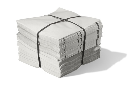 a pack of grey paper in white back with shadow