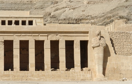 architectural detail of the ancient Mortuary Temple of Hatshepsut in Egypt