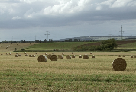 idyllic rural scenery in Thuringia  Germany