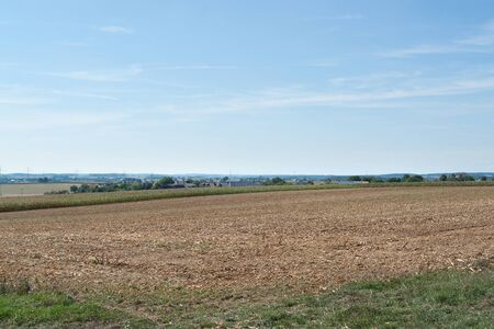 agricultural scenery in Hohenlohe at summer time