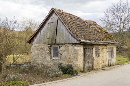 old barn at Unterregenbach, a village in Hohenlohe in Southern Germany