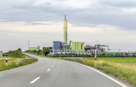road scenery and factory in Southern Germany