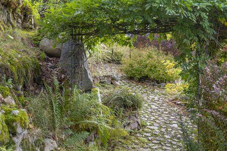 idyllic garden scenery near Gerardmer, a commune in the Vosges department in Grand Est in northeastern France