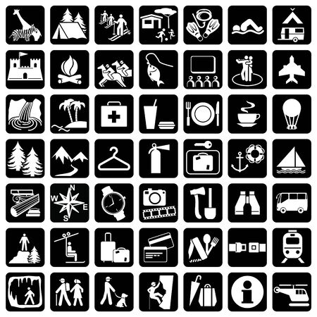 Items and signs for travel and leisure