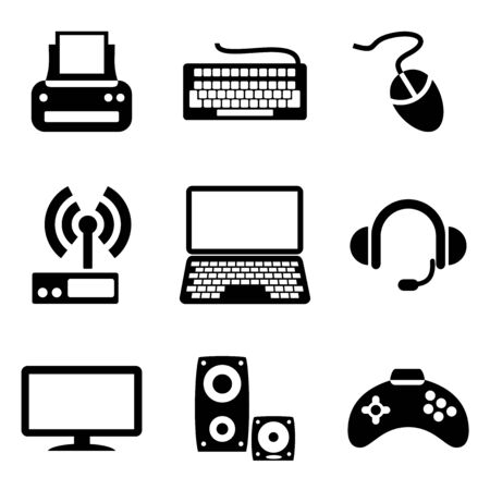 set computer icons of computer devices