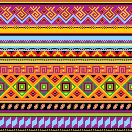 seamless background with a mexican ornament