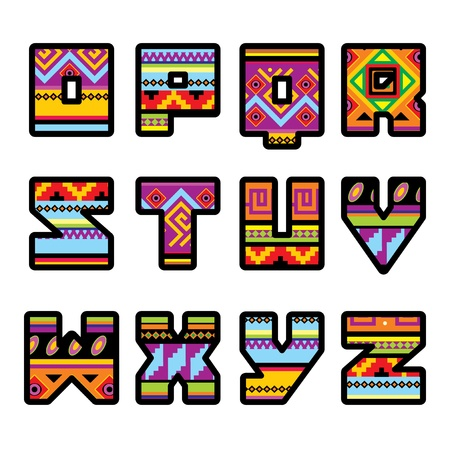 set of letters with the design of a Mexican style (part 2)