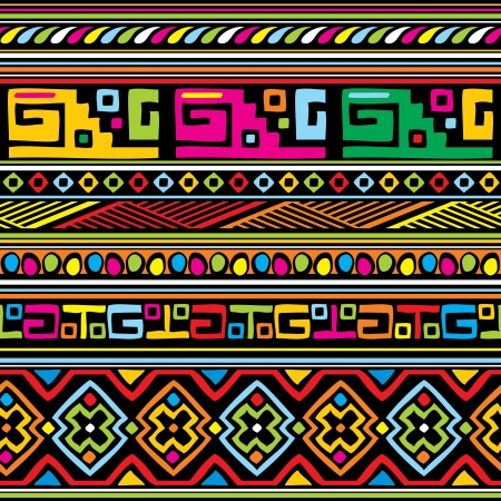 seamless vector background with african ornament